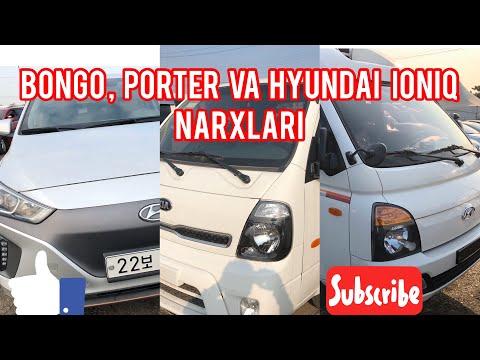 Koreyada Kia Bongo, Hyundai Porter Va Hyundai IONIQ Narxlari