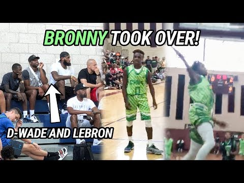 LeBron & Dwyane Wade Peep The BLUE CHIPS MOVIE! Bronny James & Rodney Gallagher TAKE CONTROL 🔥