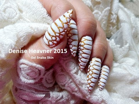 Snake Skin Nails 3 D Gel Nail Technique Youtube