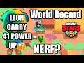 World Record Leon CARRY 41 POWER UP | Duo Showdown |Brawl Stars Hindi | By Gamesters Adda |