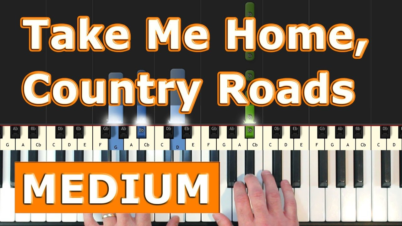 Take Me Home,  Country Roads - Piano Tutorial Easy - Sheet Music