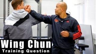 Wing Chun Training - Wing Chun How to block a straight punch. Q1