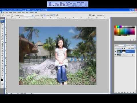 Cara mengganti background foto menggunakan Poshop