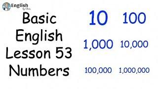 ผู้เริ่มต้น English - Lesson 53 - Numbers