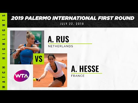 Arantxa Rus vs. Amandine Hesse | 2019 Palermo Ladies Open First Round | WTA Highlights