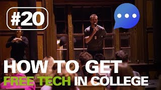 How to get FREE tech in college | HERE TO HEAR TOUR #20