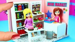 DIY Miniature Grocery Store / Mini Market - simplekidscrafts