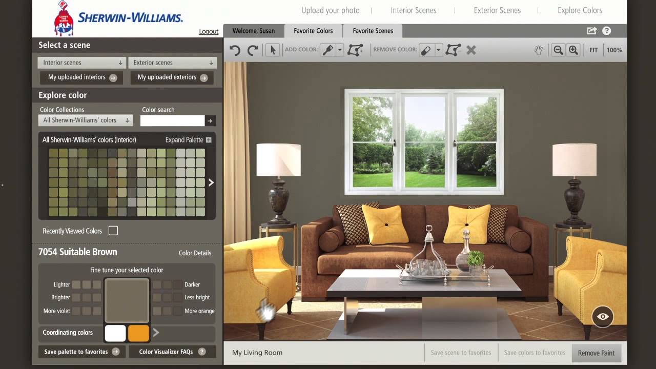 color visualizer en espa ol sherwin williams youtube