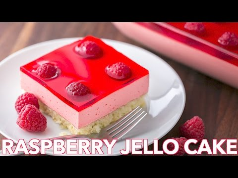 Dessert: Easy Raspberry Jello Cake Recipe - Natasha's Kitchen