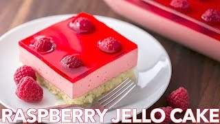 Dessert: Raspberry Jello Cake Recipe - Natashas Kitchen