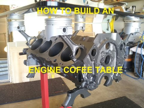 Chevy Engine Coffee Table Build - Ozzstar - 454 Big Block