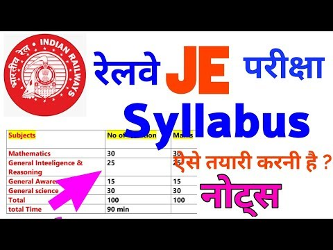 RRB JE Syllabus,Railways JE Syllabus, RRB Syllabus, Exam Pattern,Books,notes,pdf,rrb,electrical Mp3