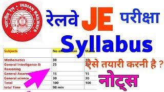 RRB JE Syllabus,Railways JE Syllabus, RRB Syllabus, Exam Pattern,Books,notes,pdf,rrb,electrical