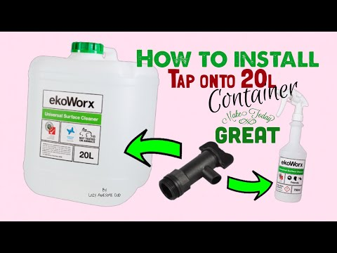 How to install a tap - EkoWorx KOH 20L container
