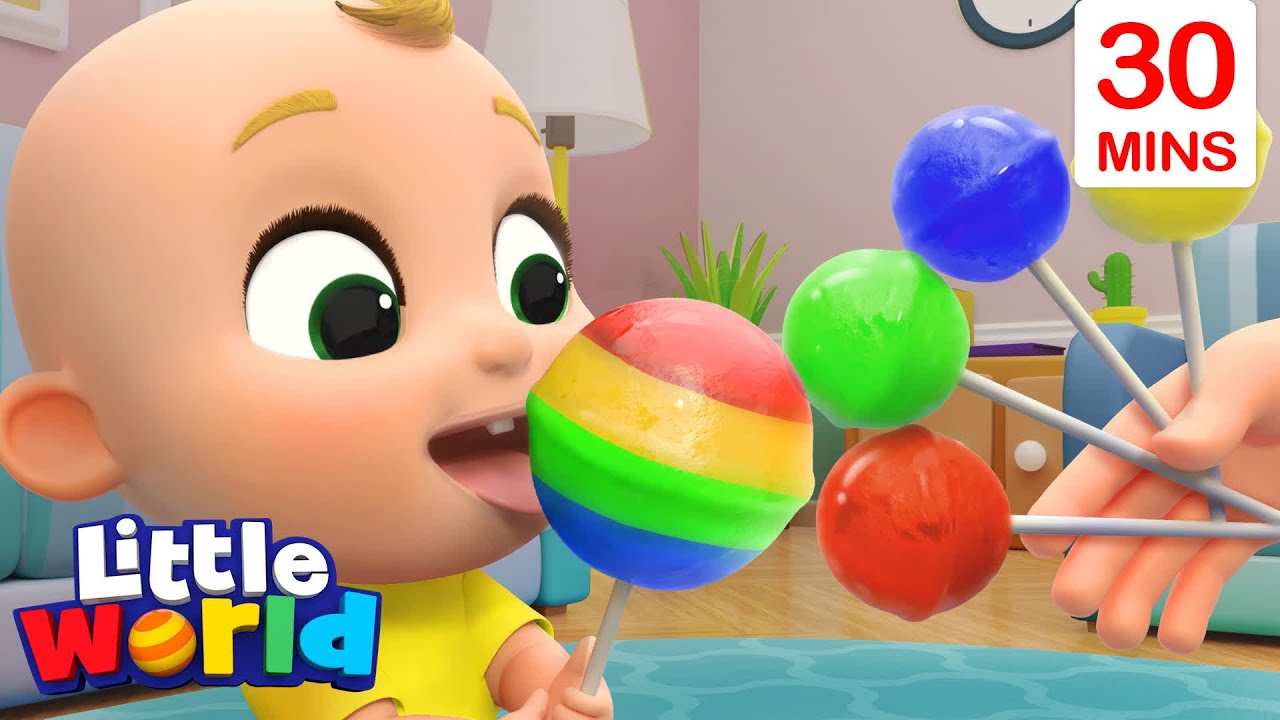 Lollipop Song With Nina And Nico + More Kids Songs & Nursery Rhymes by Little World