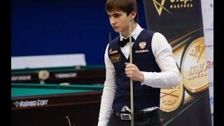 Международный турнир по Русскому бильярду в  Москве 2016. Плишкин Егор - Ливада Никита