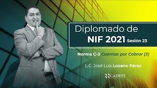 Cadefi | Diplomado de NIF´s 2021 Sesión 23 | Norma C-3 Cuentas por Cobrar (3) - 23 de Marzo