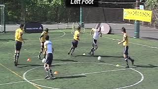 Coerver Coaching   football training | Passing Receiving Drill 4
