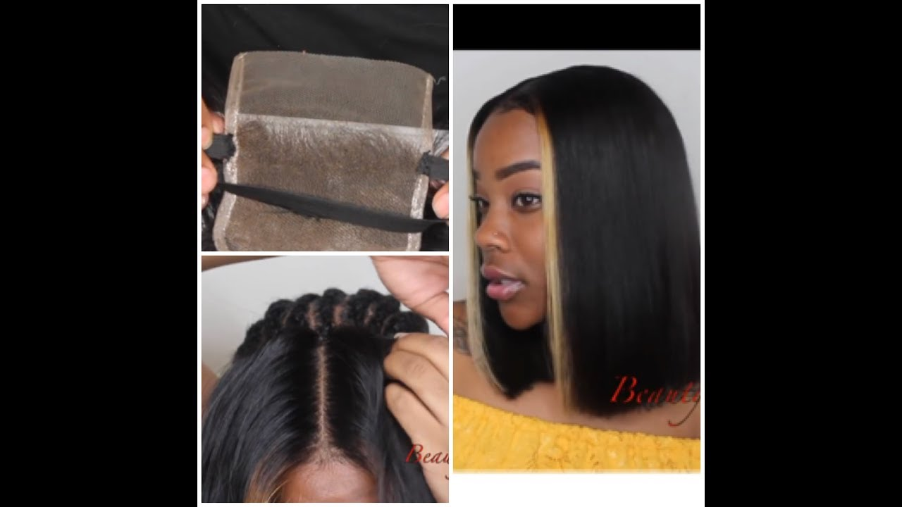 How To Closure Sewin W Elastic Band Blunt Cut Bob Quickweave W