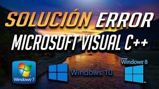 Solución al Error Microsoft Visual C++ Runtime Library en Windows 10/7/8 - [2018]