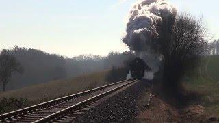 Laute Auspuffschläge, lange Züge - Dampfloks unterwegs in 2015