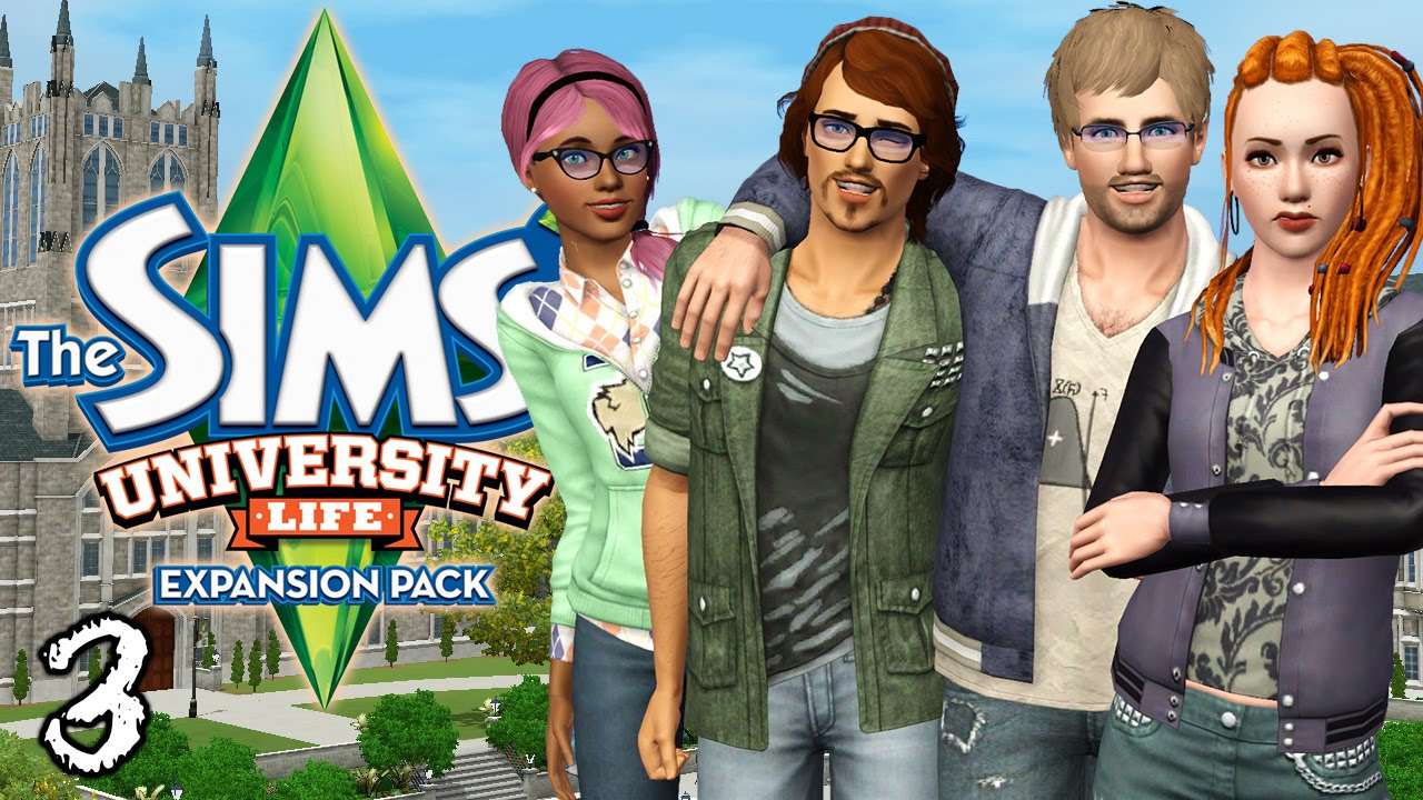 Let's Play The Sims 3 University Life - Ep. 3 - First Day at School!