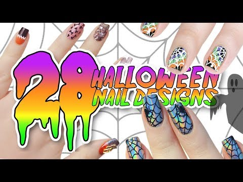 28 DIY EASY HALLOWEEN NAIL ART DESIGNS | Ultimate Halloween Nail Art Tutorial Compilation