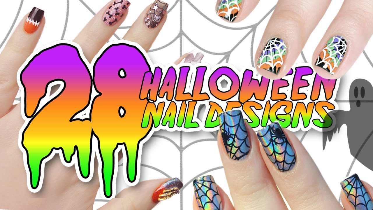 28 DIY EASY HALLOWEEN NAIL ART DESIGNS