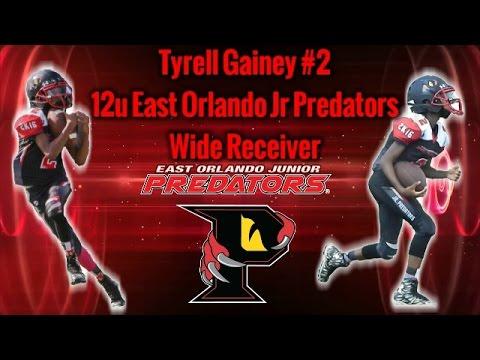 Tyrell Gainey 12u 2016 WR for the Jr Predators