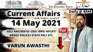 14 MAY 2021 CURRENT AFFAIRS   Daily Current Affairs Jackpot  #CurrentAffairs2021