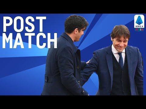 Roma 2-2 Inter   Conte & Fonseca Post Match Press Conference   Serie A TIM