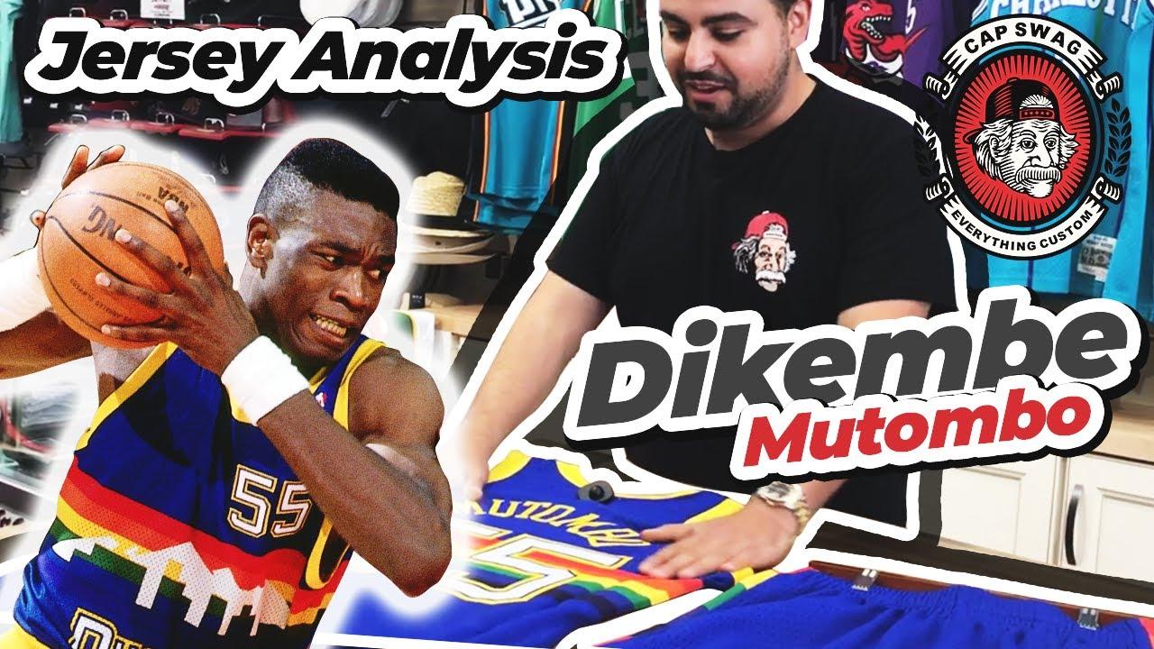 9e0bf0670 🙏 Dikembe Mutombo  55 Mitchell and Ness Swingman Jersey Closer Look ...