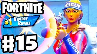 Lifeguard on Duty! Sun Strider Skin! Squads #1 Victory Royale! - Fortnite - Gameplay Part 15