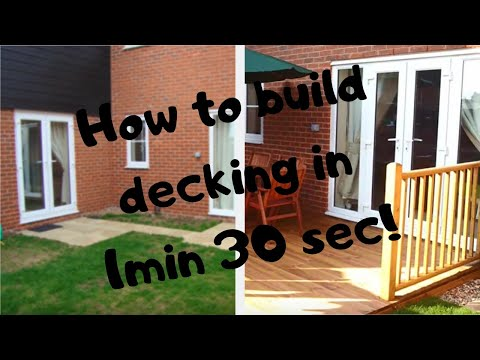 Garden youtube for Garden decking quotes uk