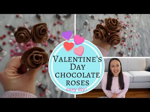 Chocolate Roses DIYII! Valentines Day 2018 Tutorial Easy & Simple Crafts for Kids!
