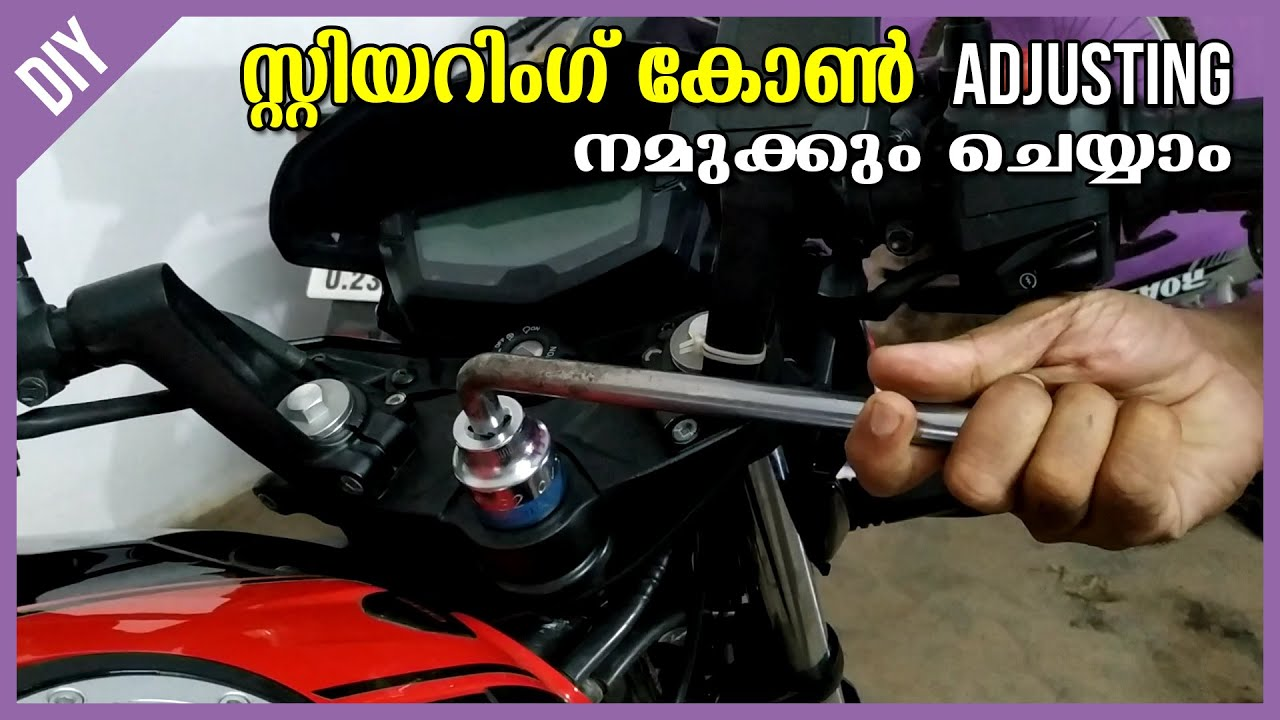 Steering Head Cone Bearing Check & Adjust | Solution to Handling Problems | Explained in Malayalam