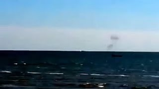 Ukrainian Border Guard Boats Under Attack In Azov Sea Near Mariupol, Sept 1 2014
