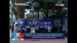 ACT, ipinrotesta ang buwis sa matatanggap nilang honorarium sa barangay at sk elections