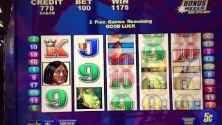 Brazil Bonus Round at $5/pull on Brazil Slot Machine in Blackhawk, CO