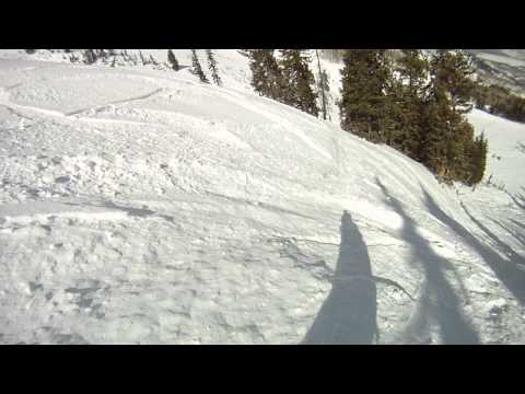 9990 Canyons Ski Resort snowboarding in park city Utah Powder Gopro Hero3