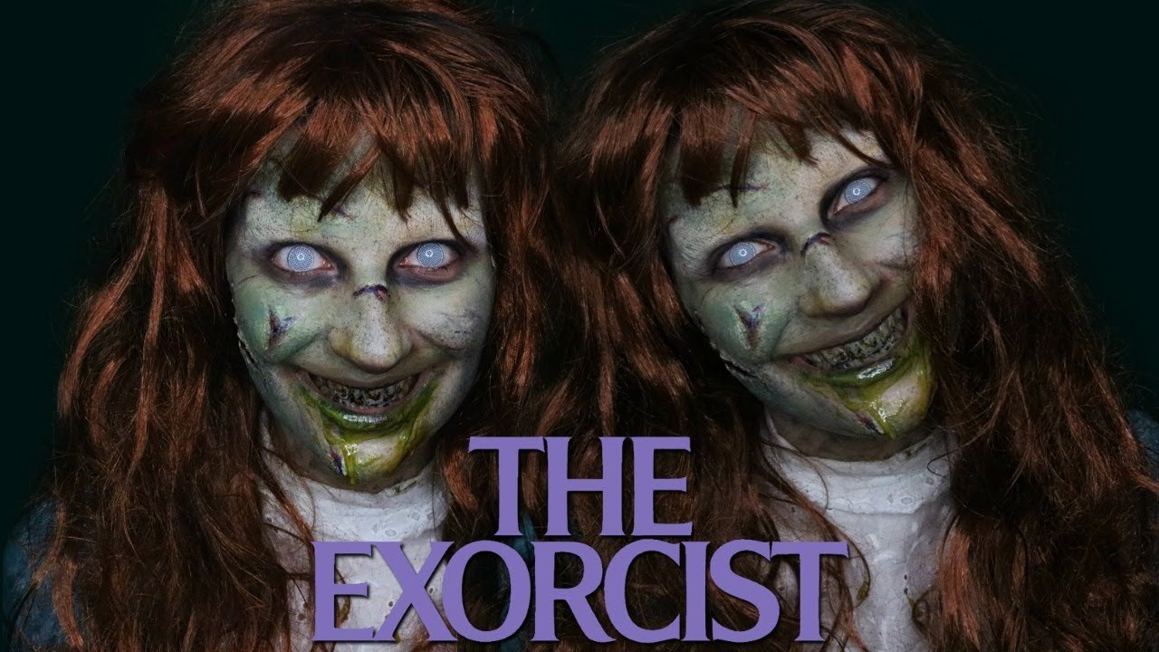 The exorcist makeup tutorial | halloween 2017 | madalyn cline.