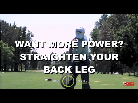 Golf Swing Drills To Improve Pivot Motion – Straighten Your Right Leg
