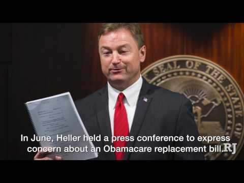 Senator Dean Heller votes yes to begin Obamacare debate