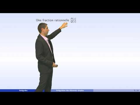 Intégrales - partie 5 : intégration des fractions rationnelles