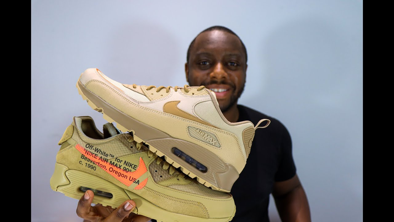 Air Max 90 Surplus Vs Off White Desert Ore On Feet Review - MicroSchopes 004 - Schopes Sneaker