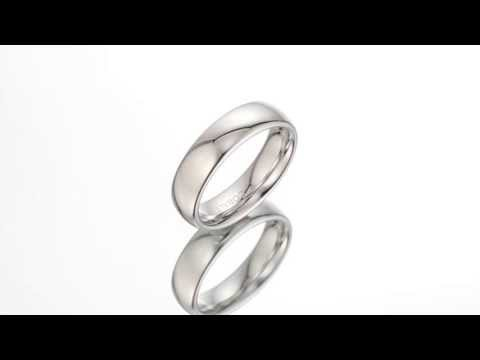 Traditional 6mm Platinum Finish Cobalt Ring Sizes 8 to 13 SR10648 by Peora Jewelry