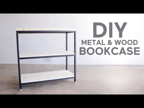 3 Tier Metal & Wood Book Shelf | Modern Builds | DIY