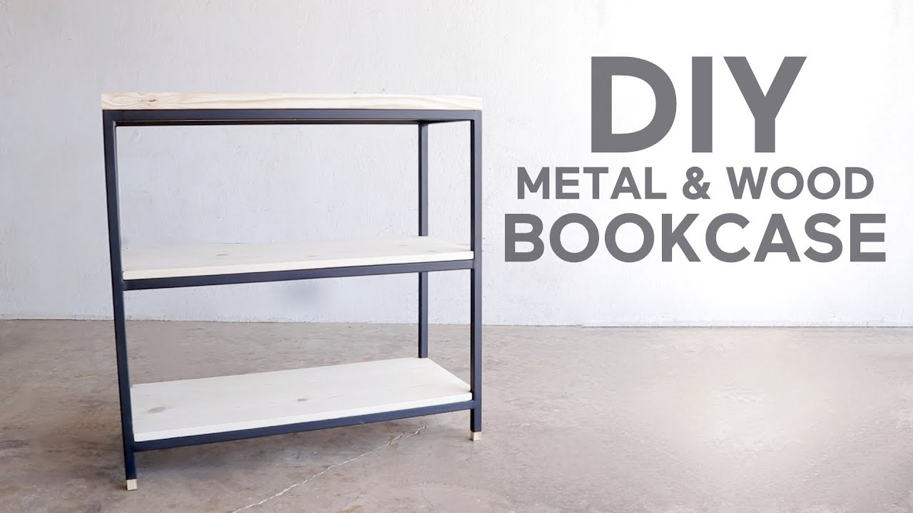 Metal Shelving 3 Tier Metal Wood Book Shelf Modern Builds Diy