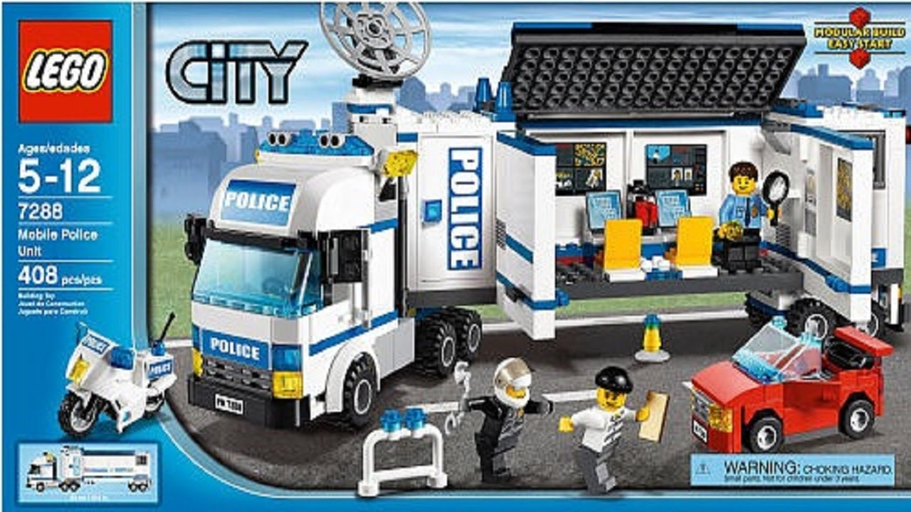 Lego 7288 mobile police unit city police instruction - Lego city police camion ...