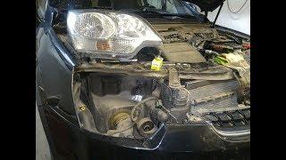 Замена ламп ближнего света Opel Antara 2012.